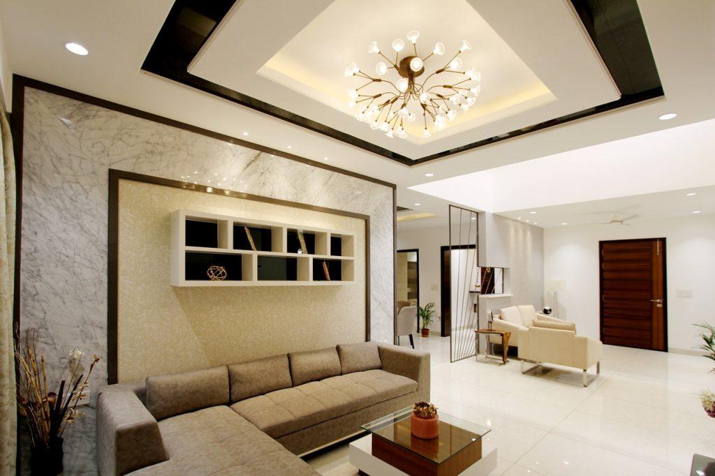 Beautiful interior design of a living room